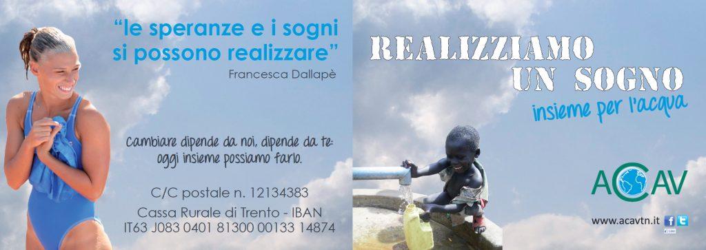 Francesca Dallapè testimonial per ACAV: insieme per l'acqua.