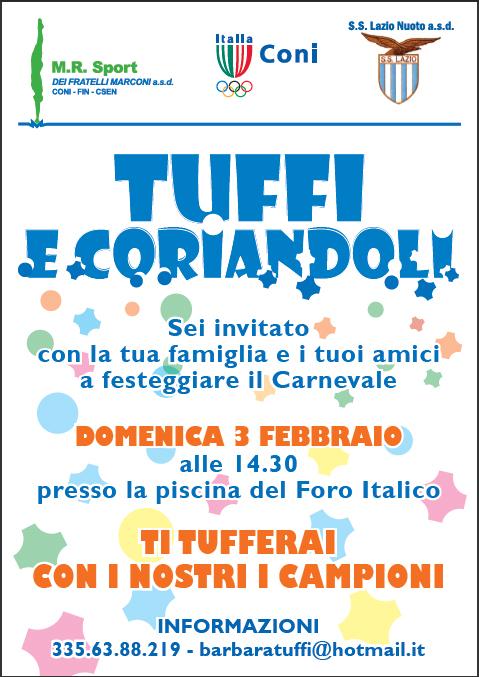 Tuffi e coriandoli: la S.S. Lazio festeggia il carnevale.