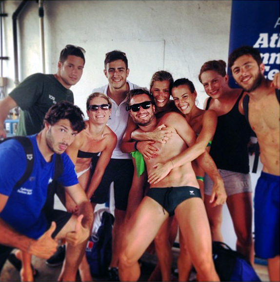 Fina Diving Grand Prix: Fort Lauderdale - Tania e Francesca si sgranchiscono le gambe.