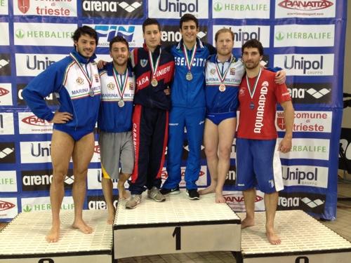 Campionati Italiani Assoluti estivi 2013: Marconi e Chiarabini bissano, Billi e Tocci confermano.