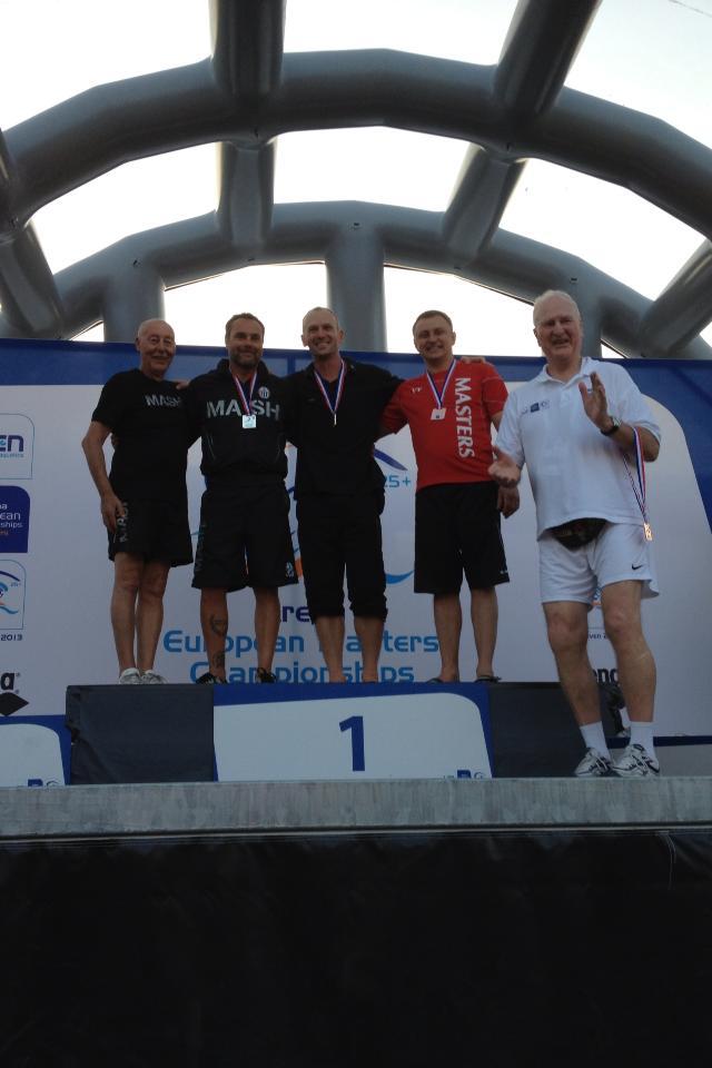Arena Master Diving European Championships Podium