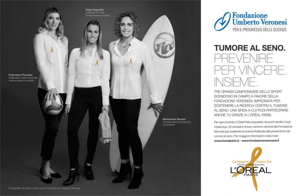 NewSplash: Tania testimonial della Fondazione Veronesi.
