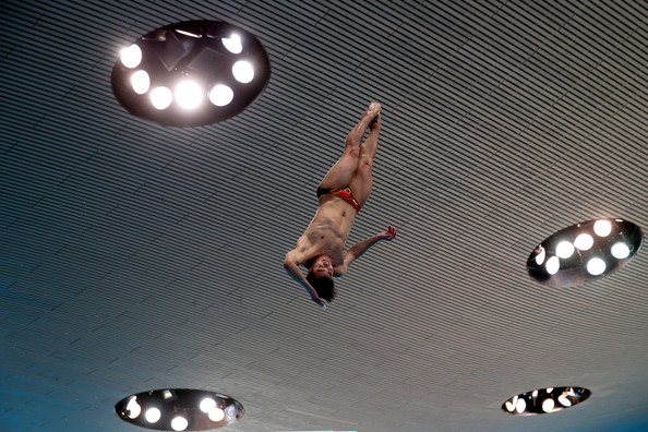 Fina Diving World series London He Chong 2014