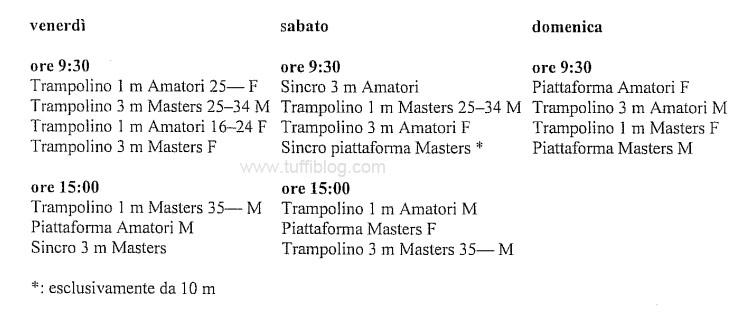programma campionati master indoor 2015