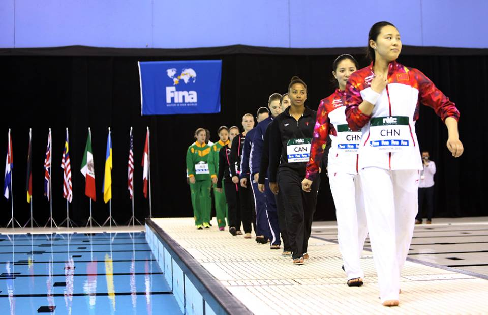 Rip-It: Fina Diving World Series 2015, who is standing on top?