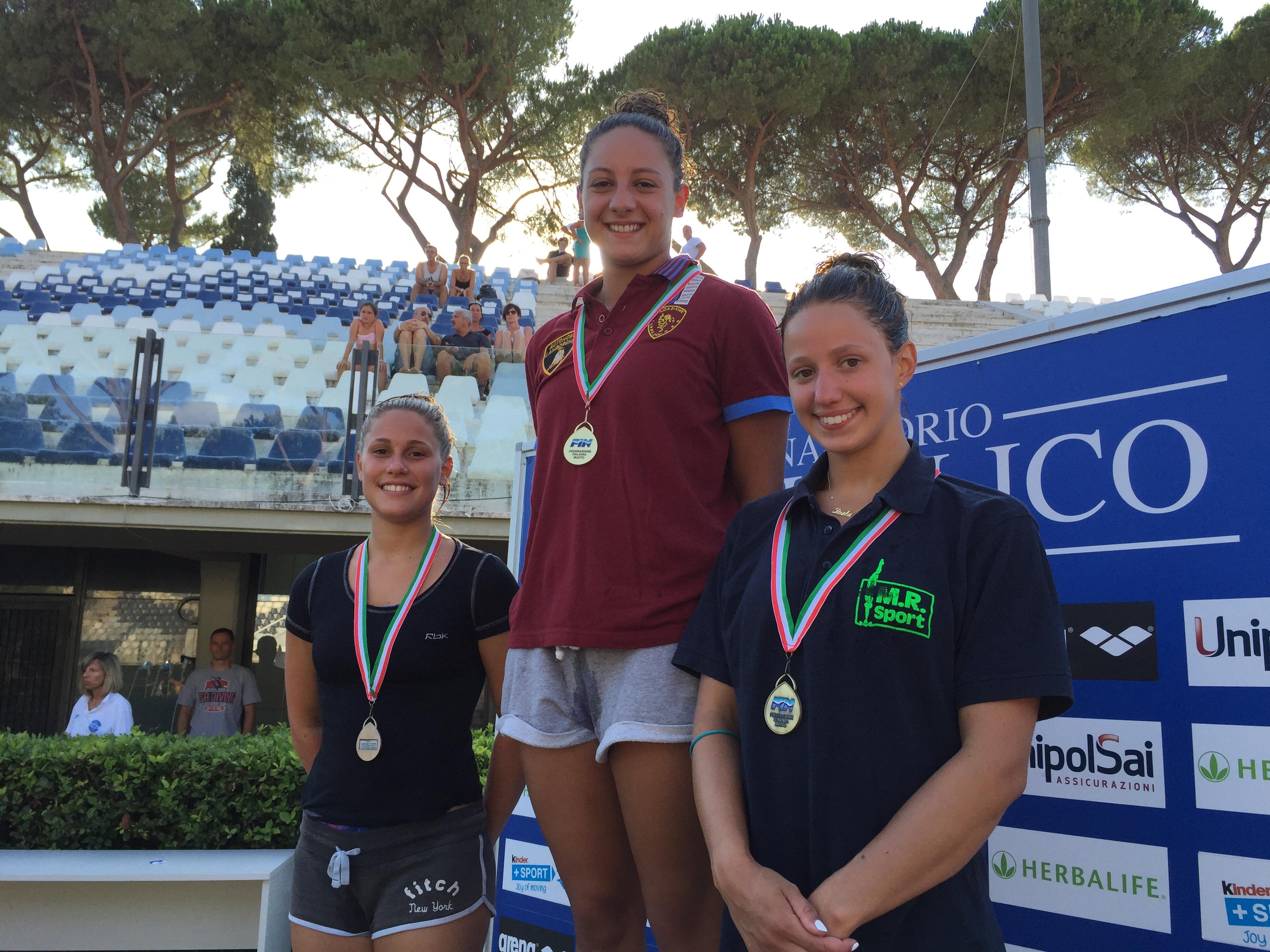 Categoria Estivi 2015 podio 3 mt senior femmine
