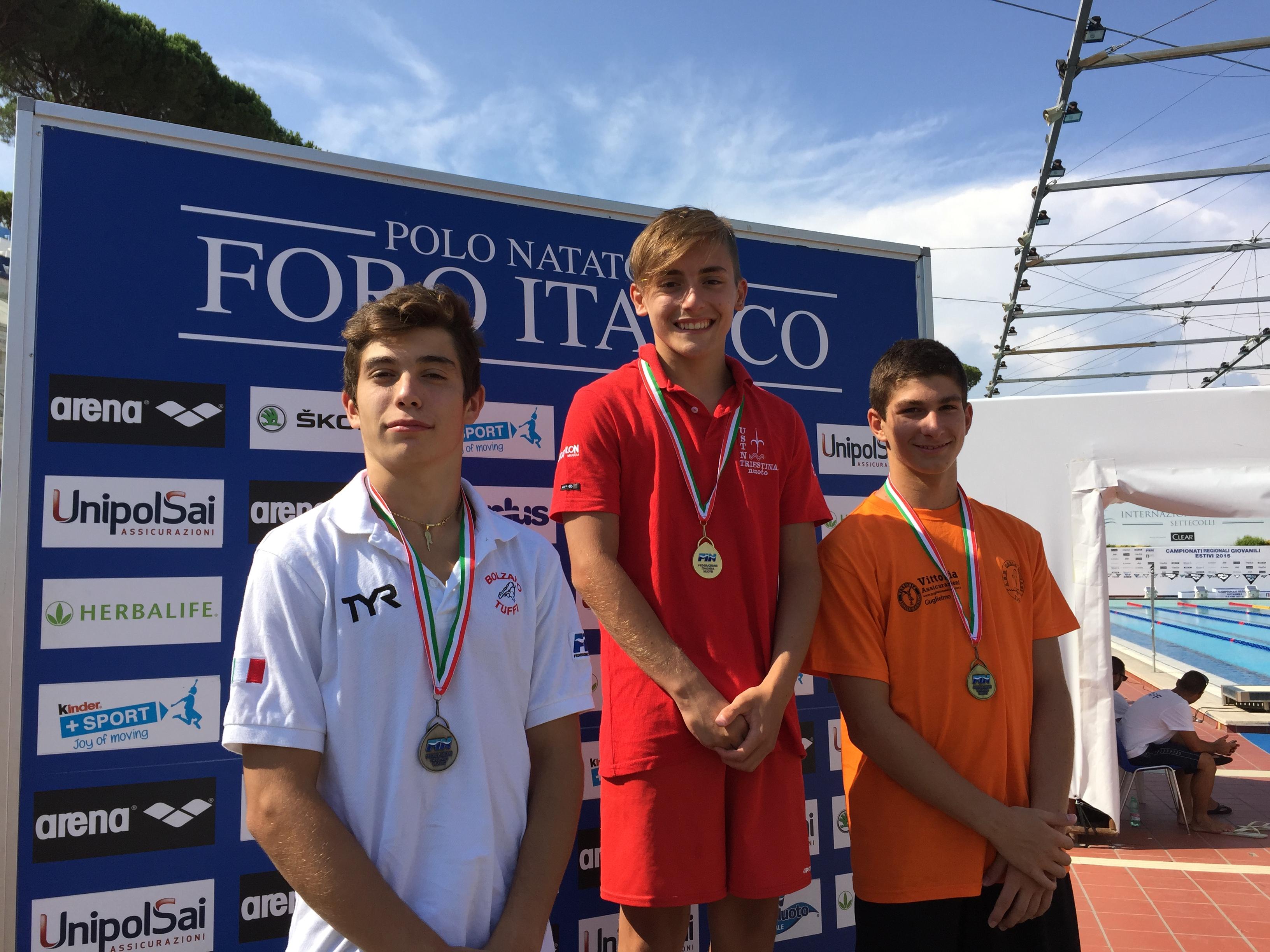Categoria Estivi 2015 podio piatta juniores maschi