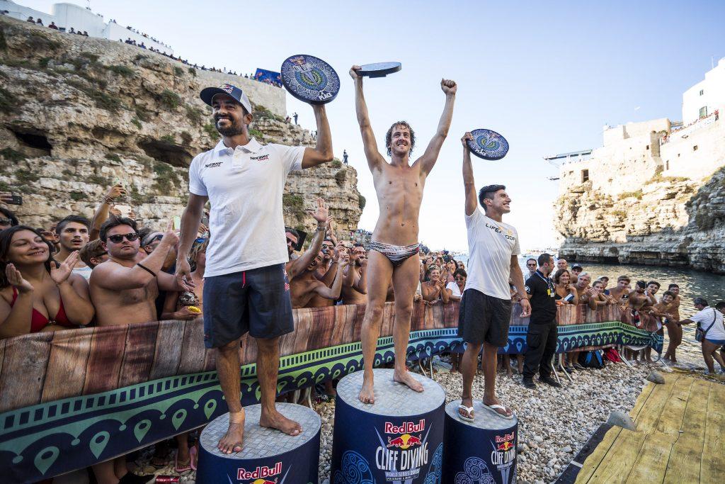 RedBull Cliff Diving World Series 2015: Polignano a Mare - Hunt e Simpson vincitori delle WS!