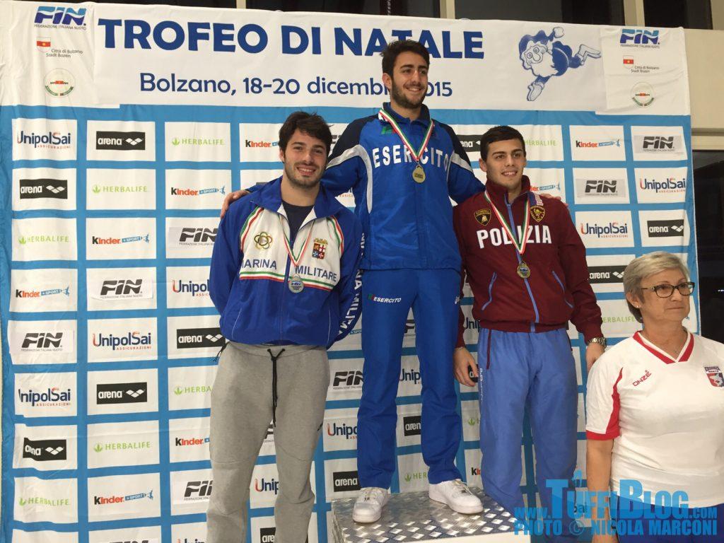 Trofeo di Natale: 1º giornata, pomeriggio - vincono Barbu, Rogantin, Cagnotto e Tocci
