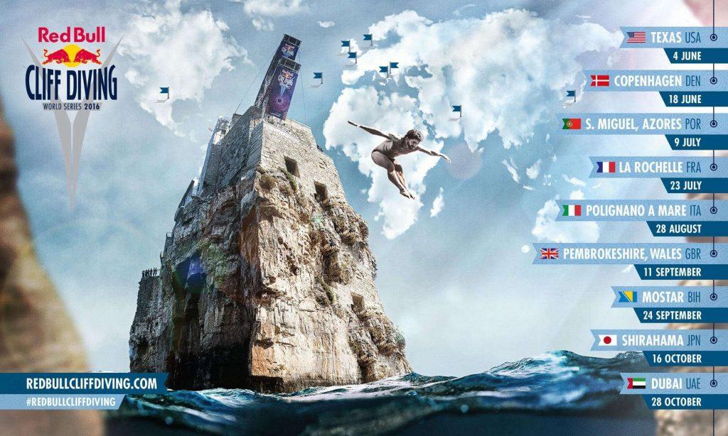 Red Bull Cliff Diving World Series 2016: calendario e partecipanti!