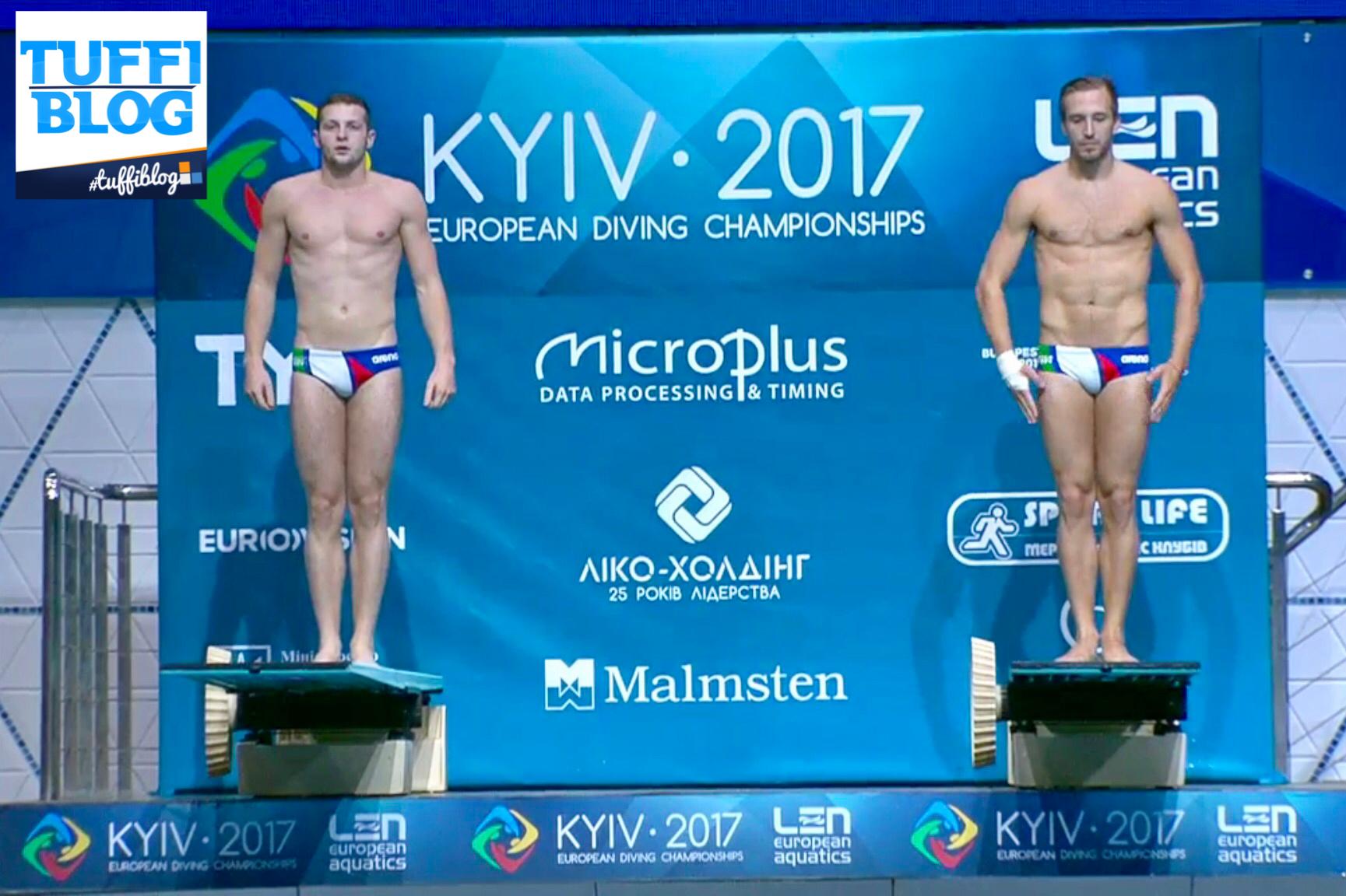 #divingkyiv2017, finale 3m sincro: Auber e Marsaglia, quinto posto all'esordio Europeo!
