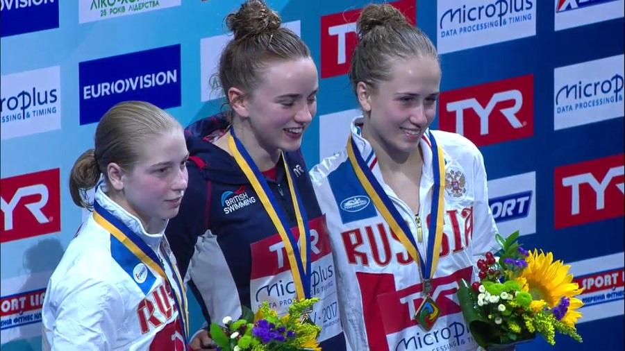 #divingkyiv2017, Piattaforma donne: oro britannico con Lois Toulson