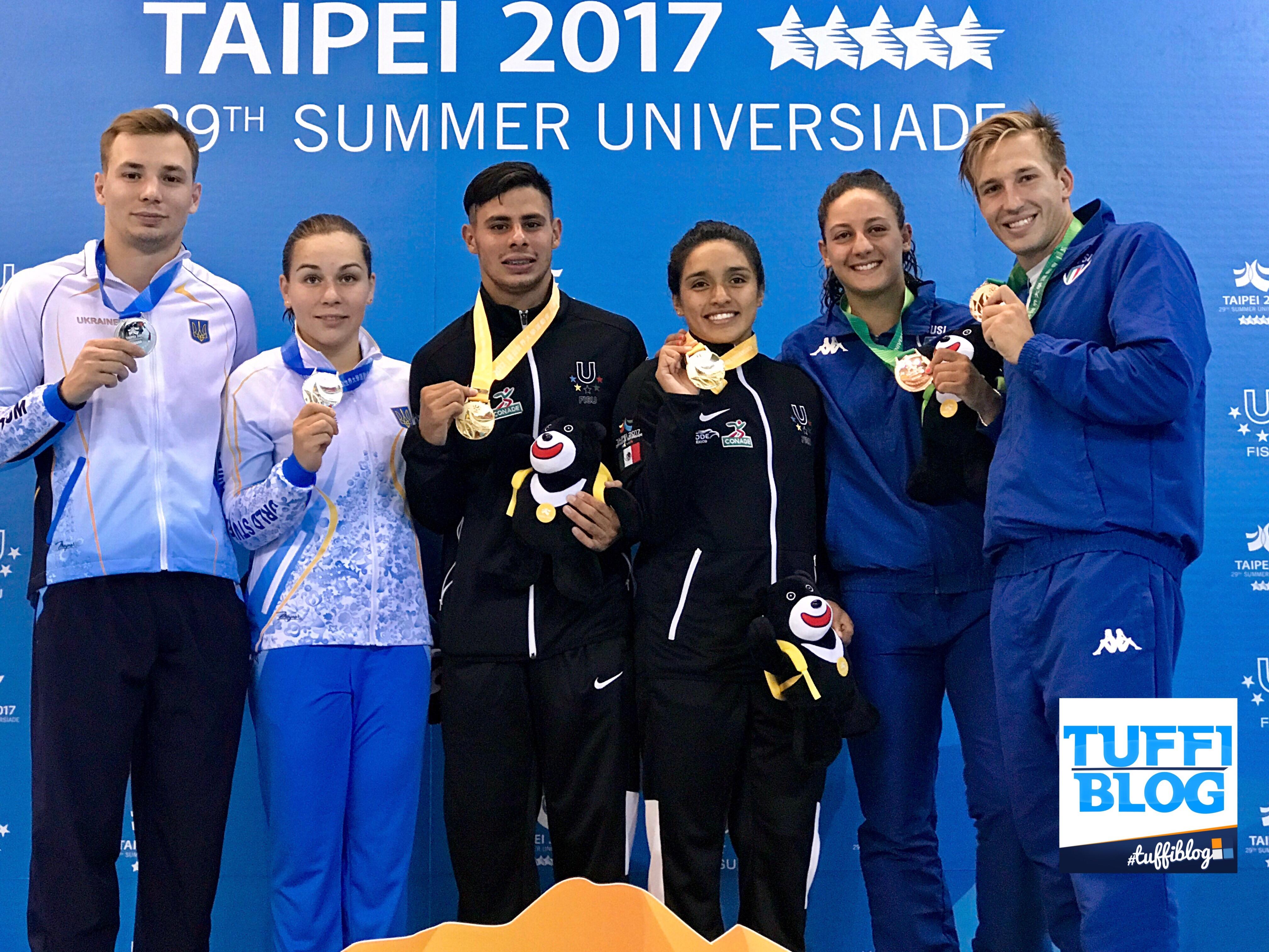 Universiadi 2017: Taipei - Sincro misto di bronzo per Auber e Bilotta!