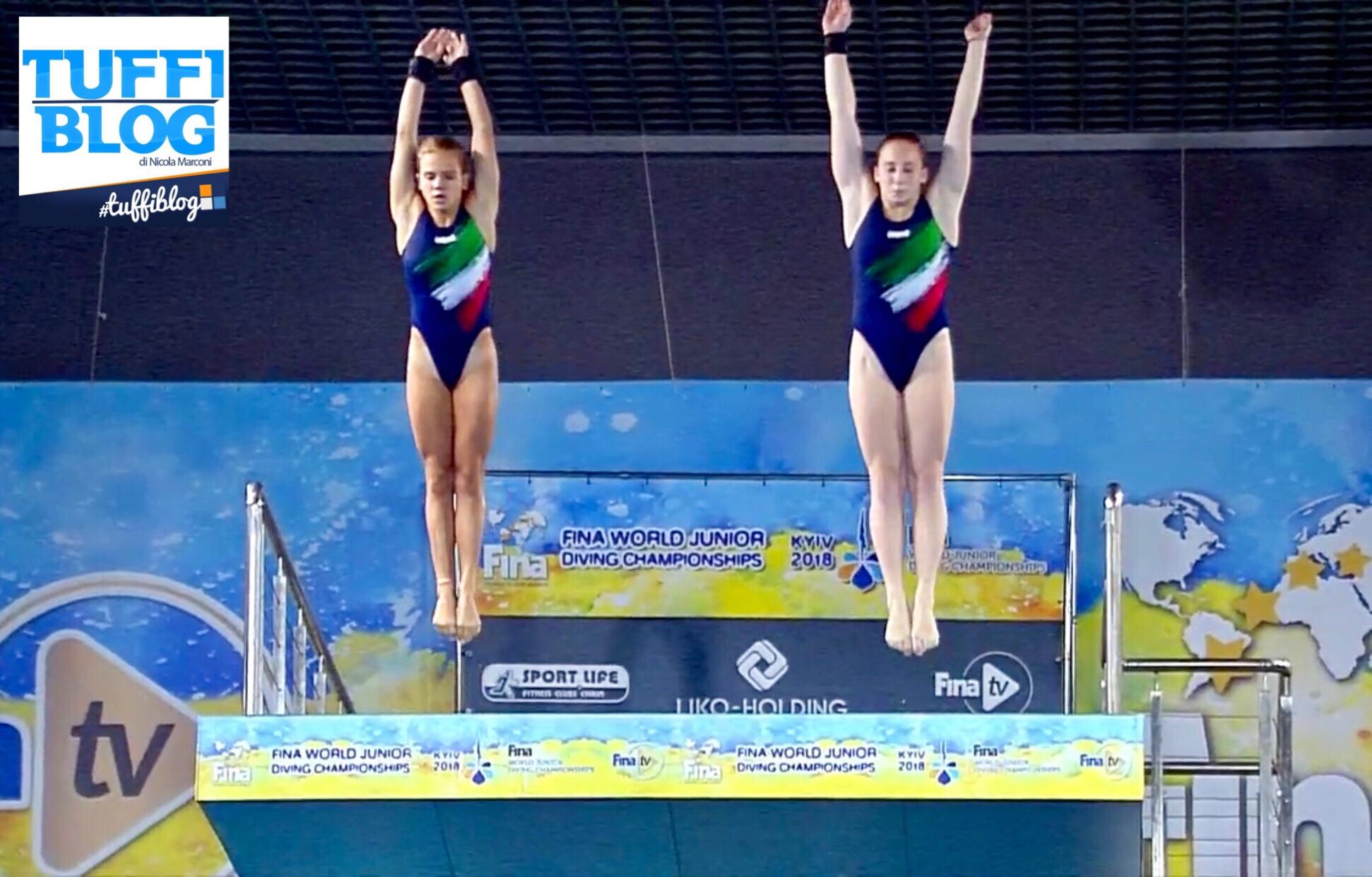 Mondiali Giovanili: Kyiv - sincro piattaforma, Biginelli-Neroni quarte per 5 punti!