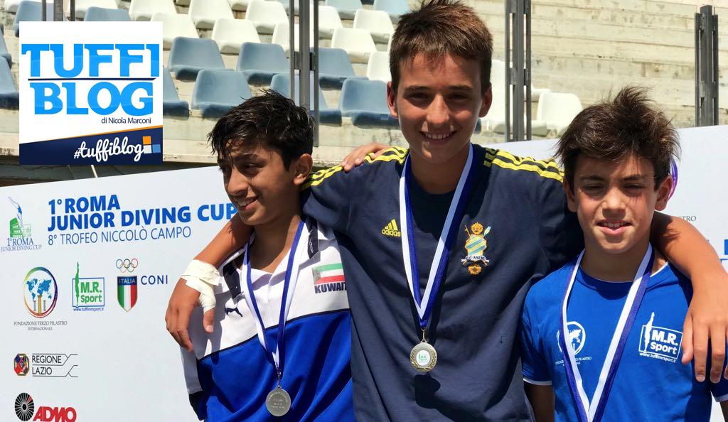 Roma Junior Diving Cup - prime medaglie d'oro per Pesce, Olmati e Casalini