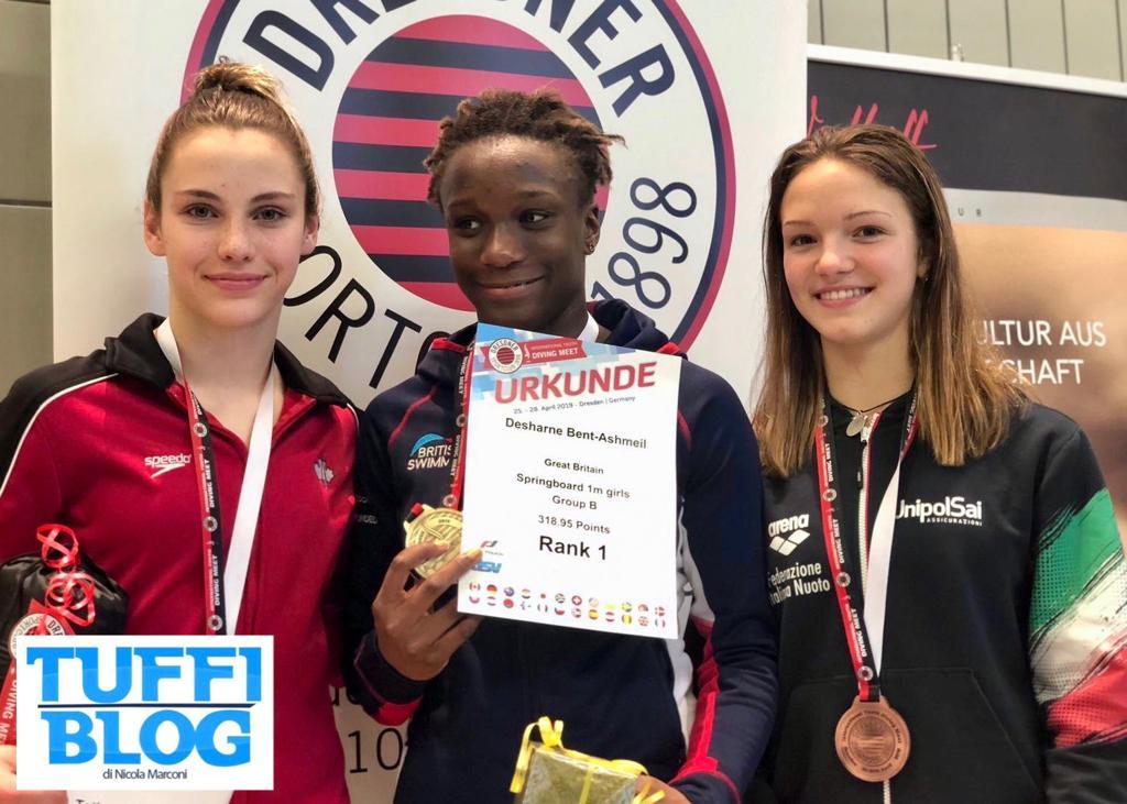 Meeting Giovanile: Dresda - Tiberti bronzo da 1 metro!