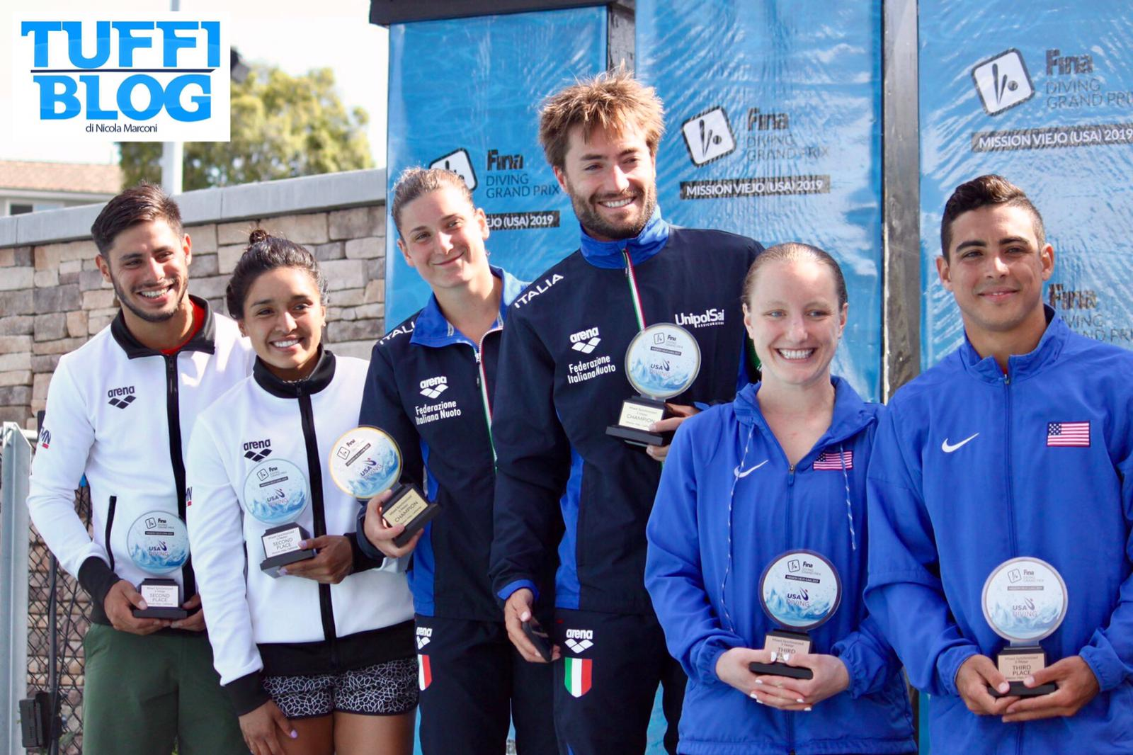 FINA Diving Grand Prix: Stati Uniti – chiusura d'oro, Bertocchi-Verzotto vincono il sincro misto!
