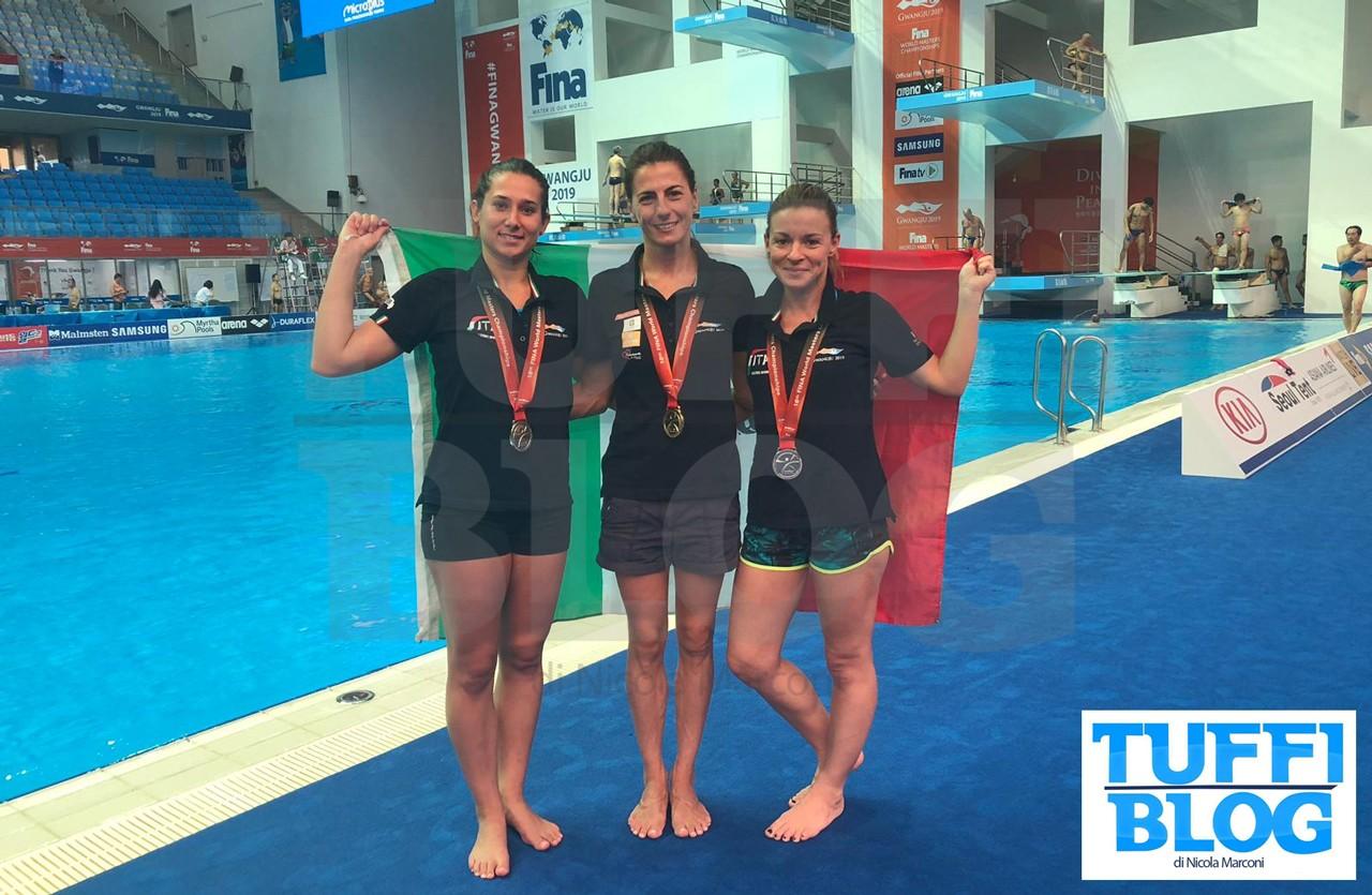 Campionati Mondiali Master: Gwangju - subito tre medaglie per i tuffatori italiani! [video]