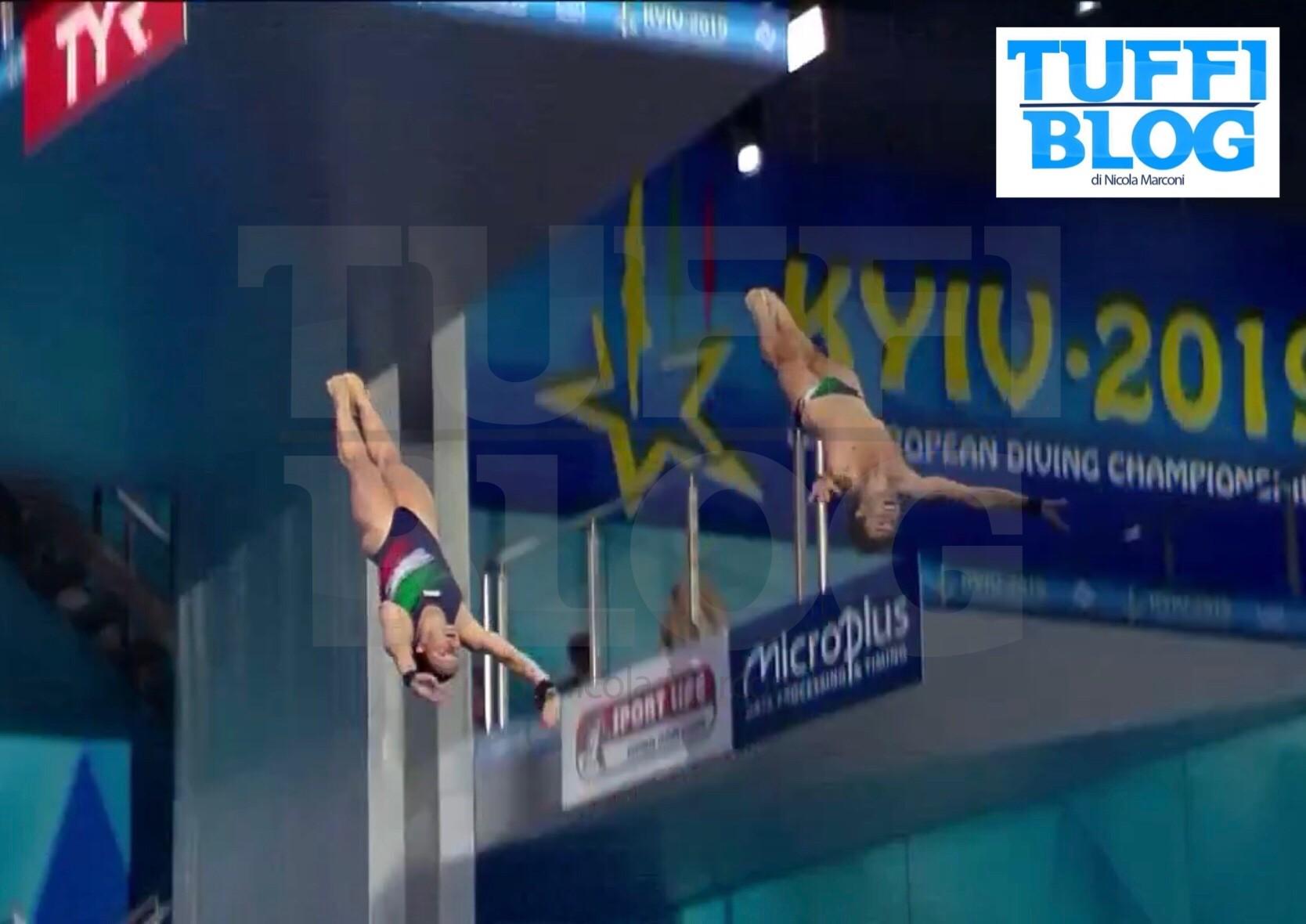 Campionati Europei: Kyiv - sincro misto Batki e Verzotto, un amaro quarto posto
