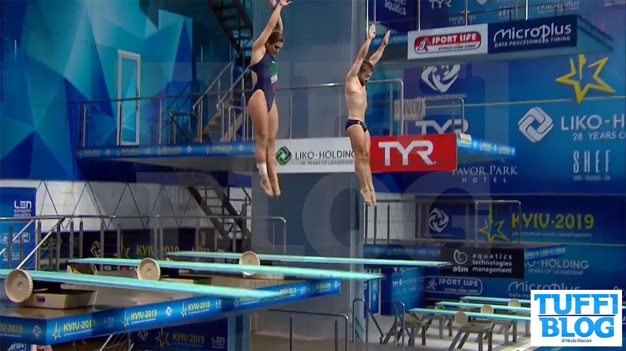 Campionati Europei: Kyiv - finale sincro misto, legno per Bertocchi-Verzotto!