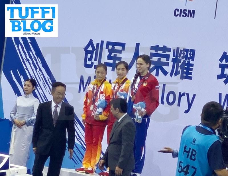 Campionati Mondiali Militari: Wuhan – due doppiette cinesi, Bondar e Ilinykh bronzo; oro Corea del Nord nel sincro piattaforma