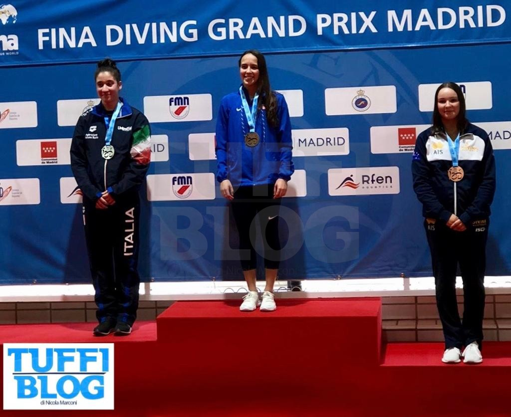 FINA Diving GP: Madrid - chiusura al top, argento Jodoin Di Maria, bronzo per i Verzotto!