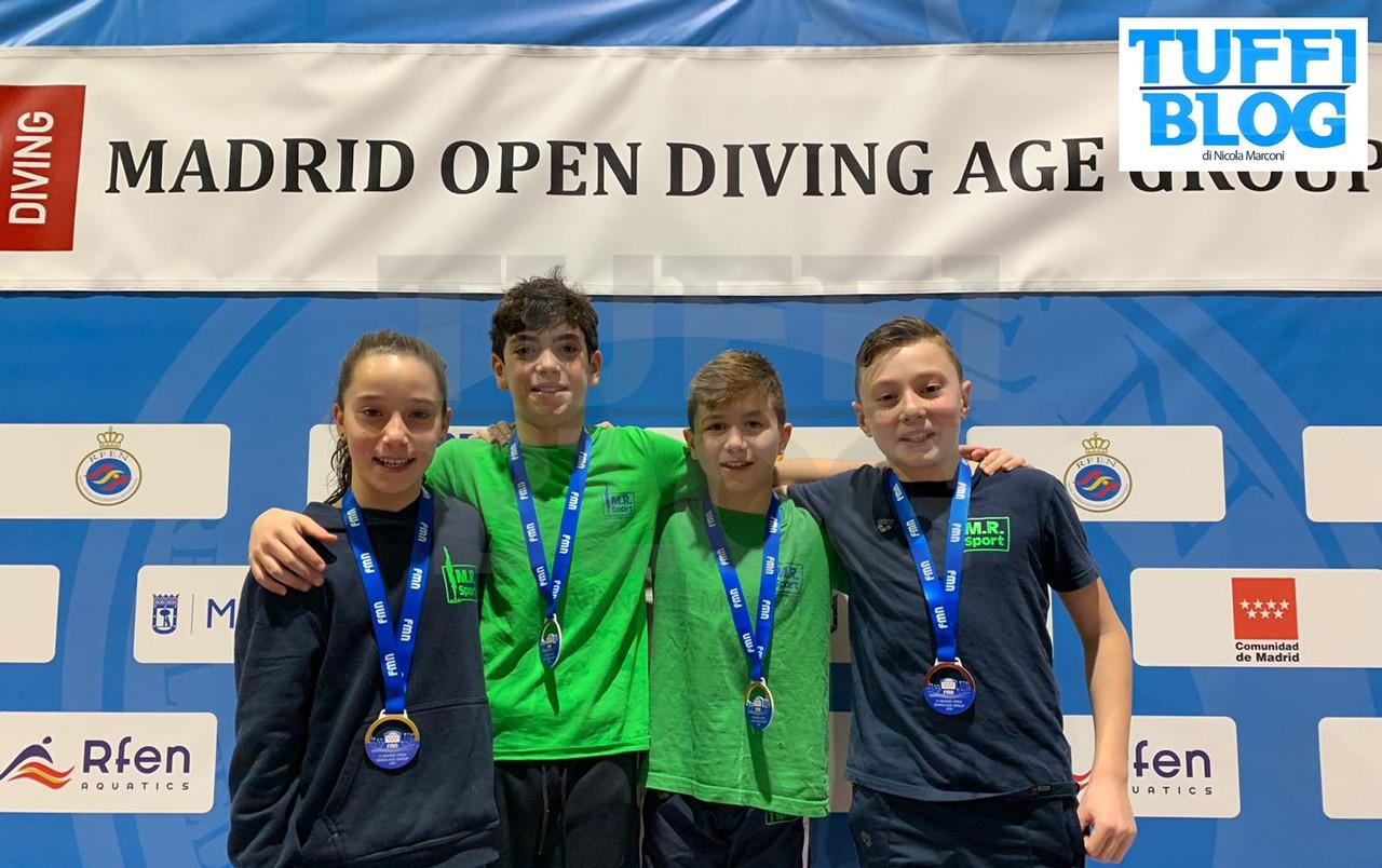 Madrid Open Diving: la squadra giovanile MR Sport in Spagna, risultati e fotogallery